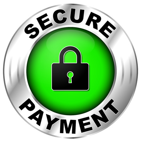 illustration of icon for secure payment