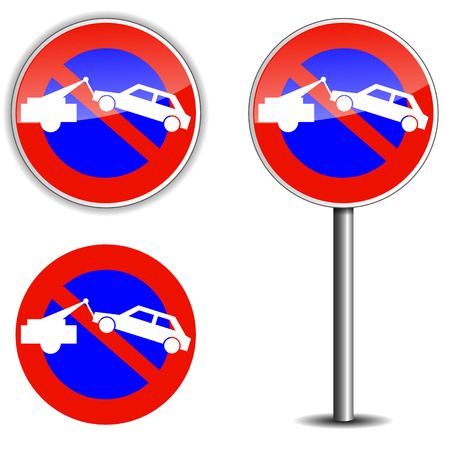 vector illustration of no park sign on white background Vector