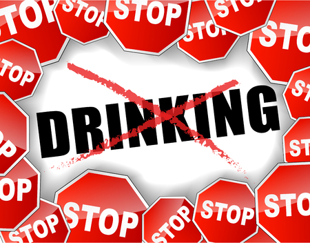 Abstract vector illustration of stop drinking background Vector