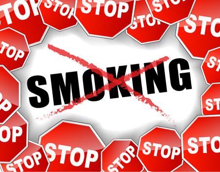 stop smoking: abstract vector illustration of stop smoking text