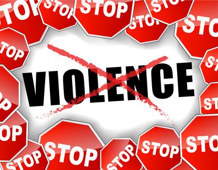 Ilustração em vetor abstrato para parar o fundo de violência