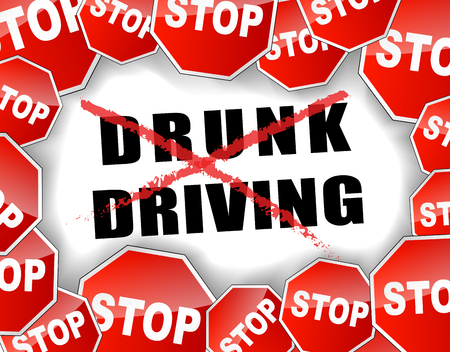 drink and drive: vector and abstract illustration for  stop drunk driving  Illustration