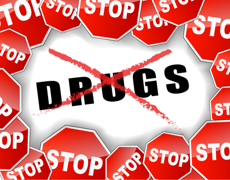 Illustration of  stop drugs  abstract  Illustration