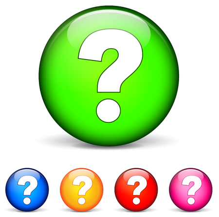 vector illustration of question icons on white background Vector