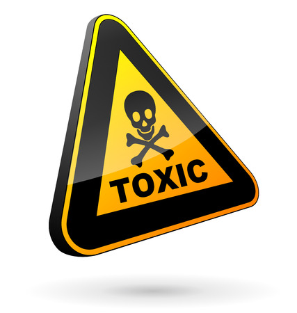 vector illustration of toxic sign on white background Vector