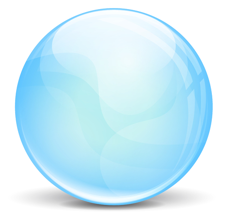vector illustration of blue bubble on white background Vector