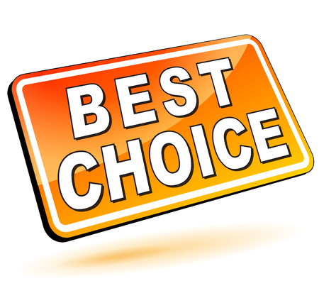 vector illustration of best choice icon 3d on white background Vector