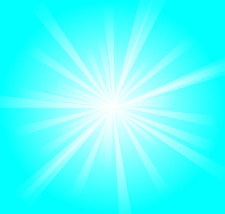 sunburst: vector illustration of blue and white radiance background Illustration