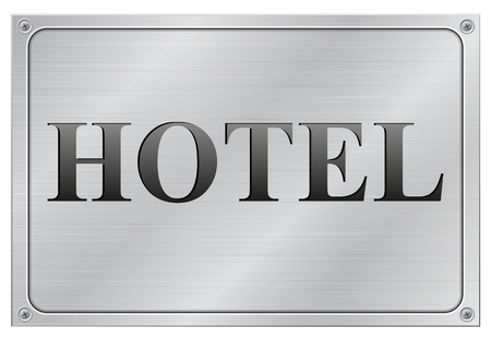 vector illustration of metal hotel panel on white background Vector
