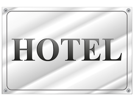 vector illustration of hotel panel on white background Vector