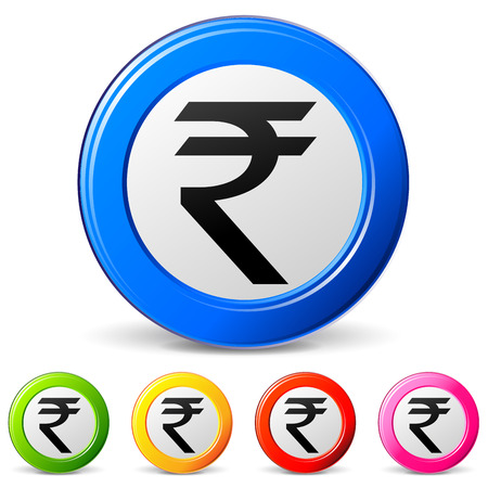 rupee: vector illustration of rupee icons on white background