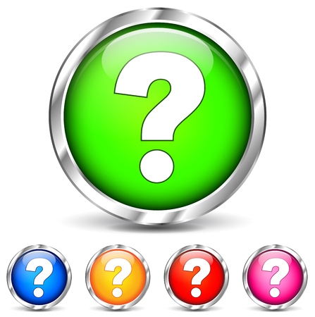 vector illustration of question mark icons on white background Vector