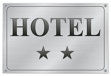 vector illustration of two stars hotel signboard on white background Vector