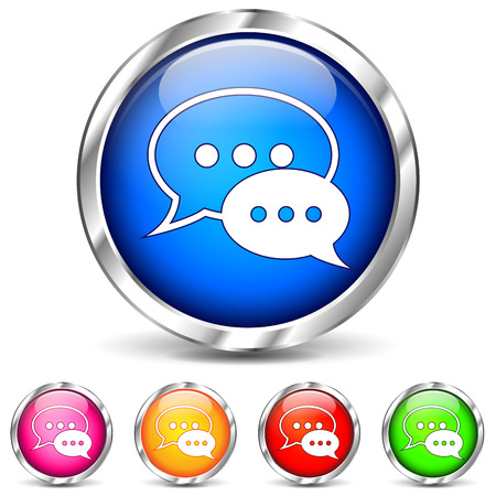 Vector illustration of chat icons on white background Vector