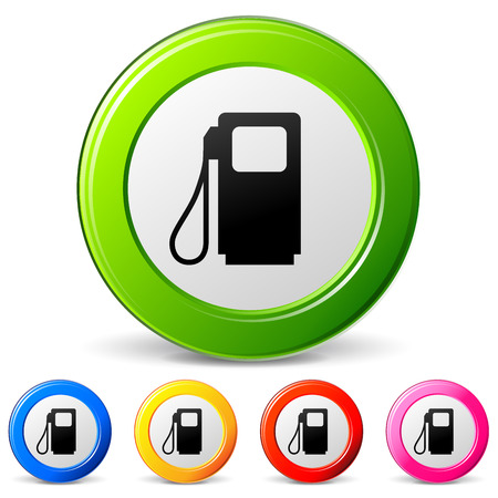 Vector illustration of fuel icons on white background Vector