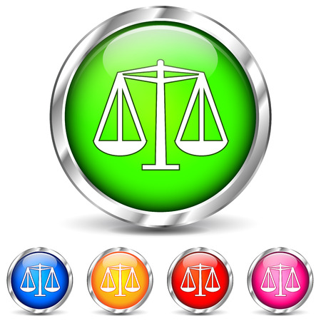 vector illustration of law icons on white background Vector