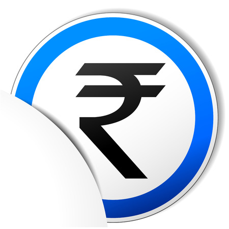 rupee: Vector illustration of rupee paper icon on white background