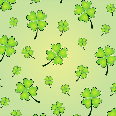 Vector illustration of clovers background for St patrick Vector