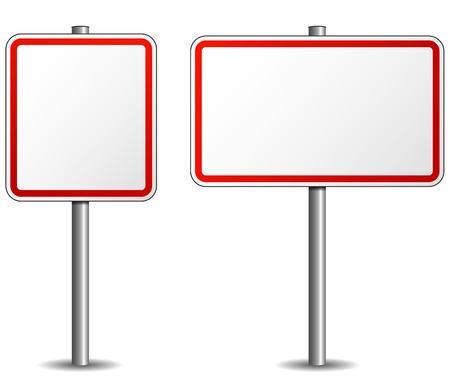 traffic pole: vector illustration of signpost empty on white background