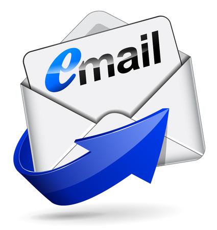 Vector illustratie van e-mail symbool op een witte achtergrond Stockfoto - 26844567