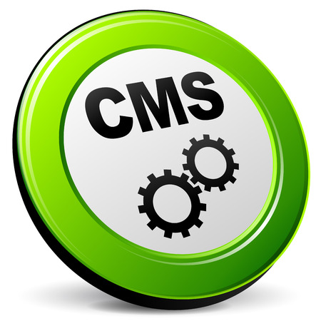 Vector illustration of cms 3d icon on white background