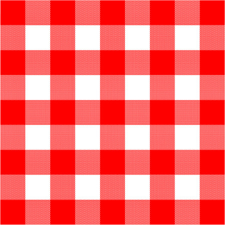 Vector illustration of gingham red and white texture Illustration