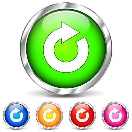 Vector illustration of refresh chrome icons on white background