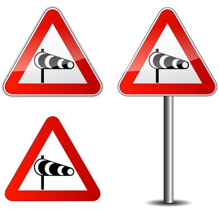 windsock: Vector illustration of wind signpost on white background Illustration
