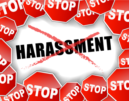 sexual: Vector illustration of stop harassment concept background