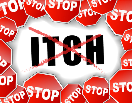 itch: Vector illustration of stop itch concept background