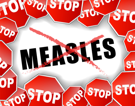 Vector illustration of stop measles concept background