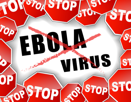 ebola: Vector illustration of stop ebola virus concept background Illustration
