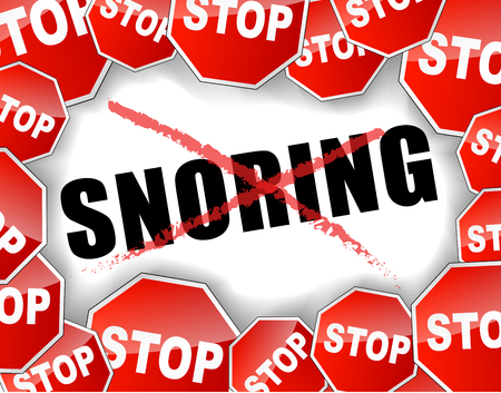 Vector illustration of stop snoring concept background