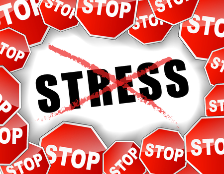 Vector illustration of stop stress concept background