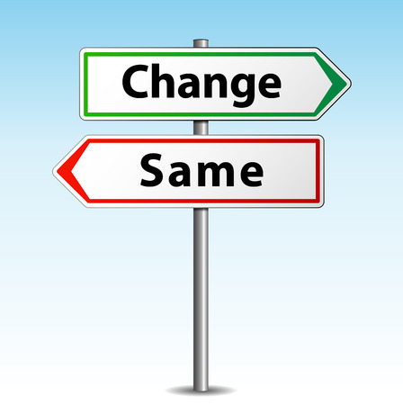 adapting: Vector illustration of change or same arrows signs
