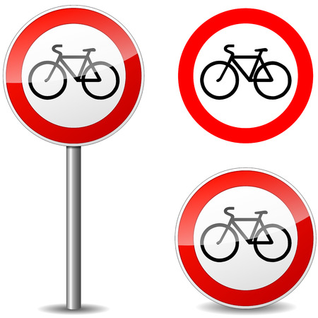 Vector illustration of bicycle sign on white background Vector