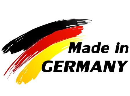 rendu: Vector illustration de fait en Allemagne �tiquette