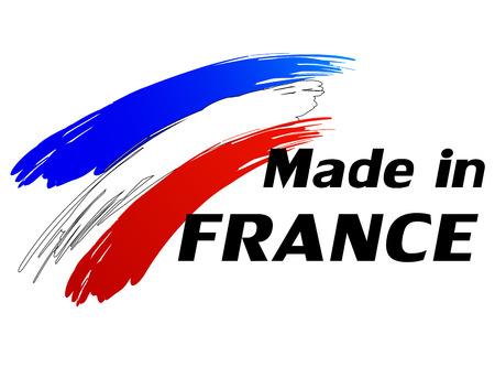 Ilustración del vector de la etiqueta made in france