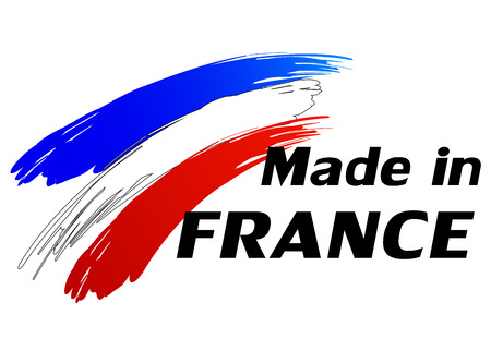 french flag: Vector illustration of made in france label