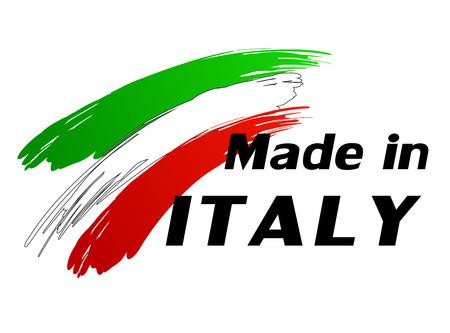 Illustrazione vettoriale del made in etichetta Italia Archivio Fotografico - 27390338