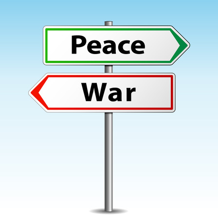 Vector illustration of peace and war arrows signs Vector