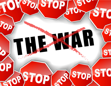Vector illustration of stop the war concept background Vector