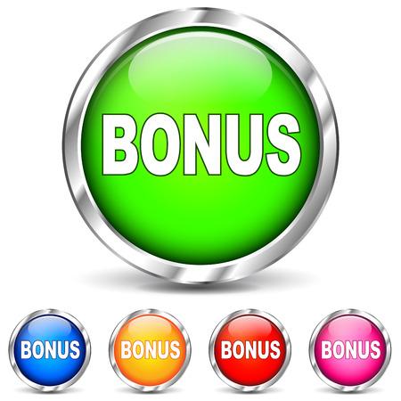 Vector illustration of bonus chrome icons on white background Illustration