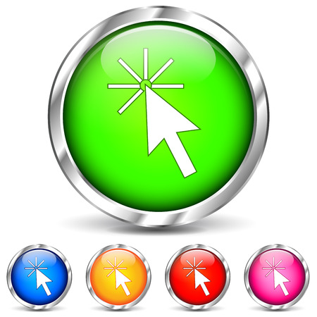 Vector illustration of pointer icons on white background