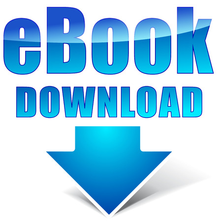 audiobook: Vector illustration of e-book download icon on white background Illustration