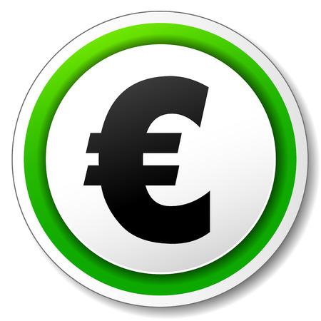 euro teken: Vector illustration of euro sign on white background