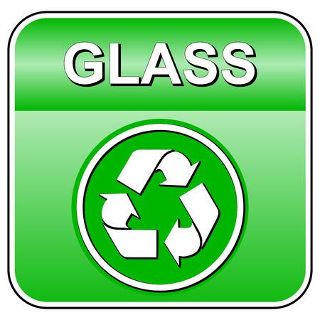 Vector illustration de verre icône de recyclage sur fond blanc