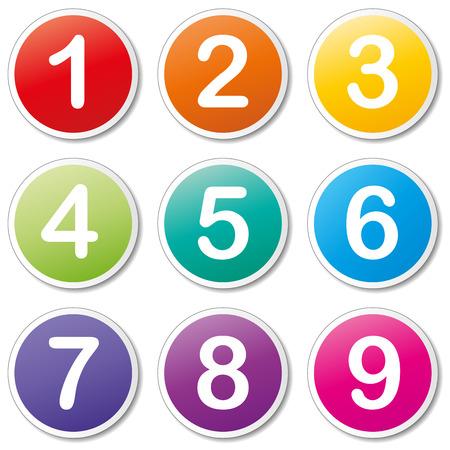 Vector illustratie van nummers pictogrammen op witte achtergrond Stock Illustratie