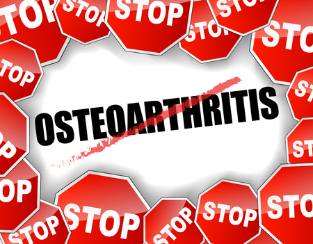 osteoarthritis: Vector illustration of stop osteoarthritis concept background Illustration