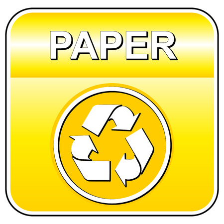 Vector illustration of paper recycle icon on white background
